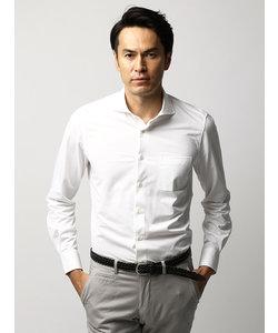 ≪JAPAN FABRIC≫織柄 ホリゾンタルカラージャージーシャツ