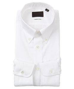 ボタンダウンカラードレスシャツ 織柄