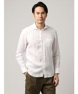 【ETONNE】製品洗い ピュアリネンホリゾンタルカラーシャツ≪Fabric by Albini≫
