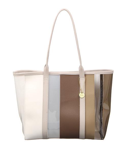 PVCマルチカラートートバッグ