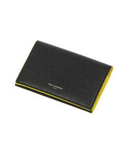 PELLE MORBIDA/型押しレザー バイカラーカードケース