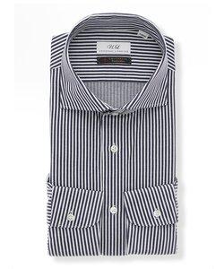 ジャージー/ホリゾンタルカラードレスシャツ ストライプ