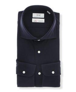 Albini/ジャージー/ホリゾンタルカラードレスシャツ 織柄