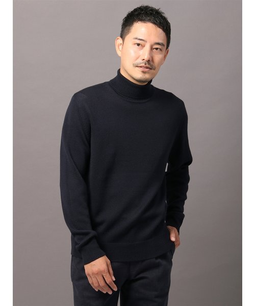 ZEGNA BARUFFA/キャッシュウール7ゲージ天竺 タートルネックニット