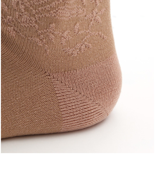 フロート刺繍風ソックス