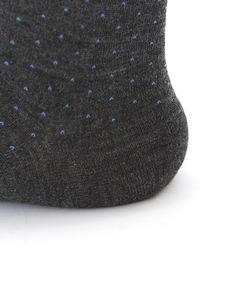 メンズ ウールピンドットビジネスソックス25~26cm