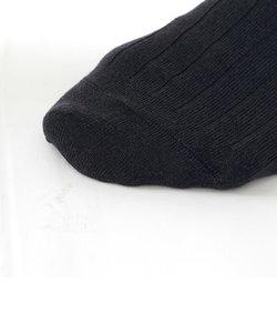 メンズ 毛混9×2リブビジネスソックス