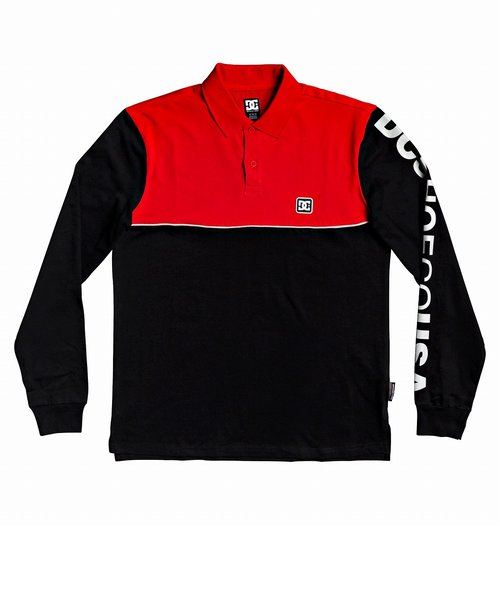 【DC ディーシー公式通販】ディーシー (DC SHOES)BROOKLEDGE POLO LS ポロシャツ 長袖 プリント ロゴ スタンダードフィット