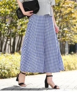 【WEB限定】ギンガムフレアスカート