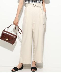 【EASY CARE & UV CARE & COOL TOUCH】斜めポケットワイドパンツ