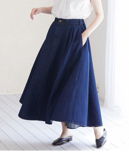 【WEB限定】チノ&デニムボリュームスカート