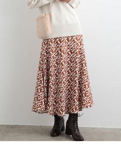 フラワーAラインロングスカート