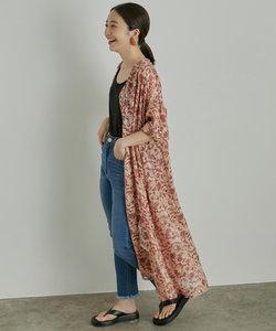 【WEB限定】花柄ジャガードロングシャツワンピース