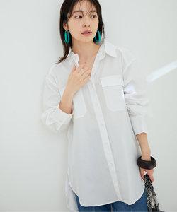 【鎌倉シャツ×ViS】ポプリンドロップショルダーシャツ