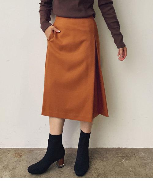【EASY CARE】ウォッシャブルフラノタイトスカート