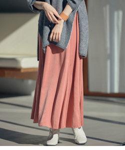 スエードサテンマーメイドスカート