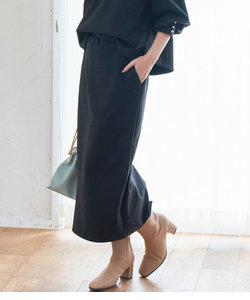 【WEB限定Lサイズ】【セットアップ対応】エコスエードポンチタイトスカート
