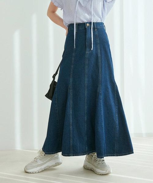 【TV着用】【vis-`a-vis】デニムマーメイドスカート
