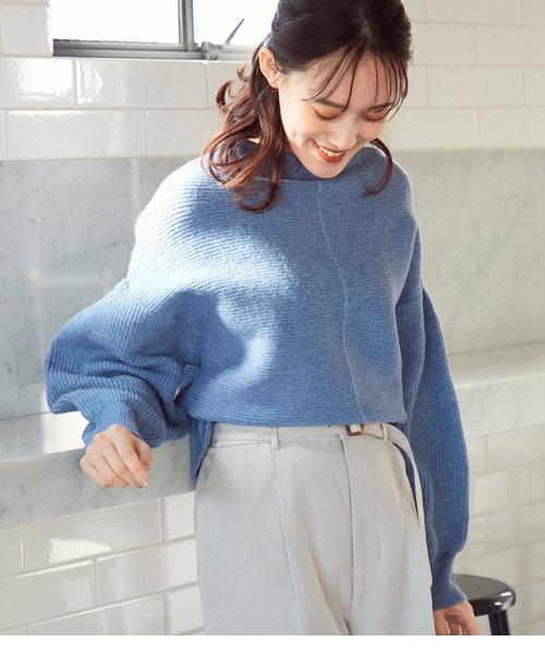 【マシンウォッシャブル】ピンタックガーター編みプルオーバー