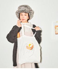 【パン野ゆり×ViS】【WEB限定】パンプリントトートバッグ