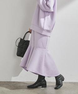 【モイストスフレタッチ】しっとり滑らか。ダンボールニットマーメイドスカート