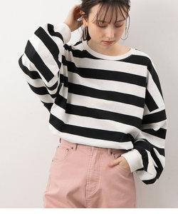 【WEB限定】太ボーダールーズシルエットロングTシャツ