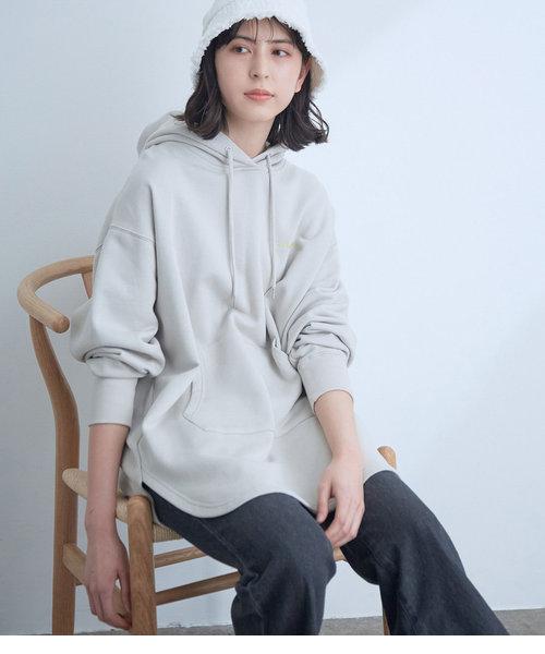 【CONVERSE】ViS別注ロゴ刺繍スウェットパーカチュニック