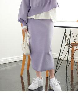 【コラーゲン加工】【セットアップ対応】【ViSage】軽量ニットスカート