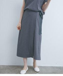 【UVケア】【マシンウォッシャブル】【セットアップ対応】カットジャカードラップスカート
