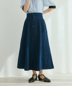 【vis-`a-vis】デニム&チノハイウエストフレアースカート
