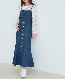 【vis-`a-vis】マーメイドラインデニムジャンパースカート