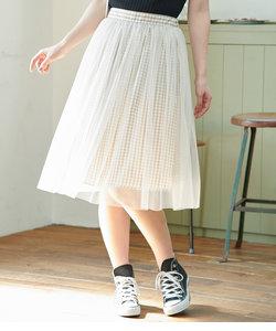 【2WAY】ギンガムチェックチュールスカート