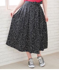 【WEB限定】ランダムドットフェイクラップスカート