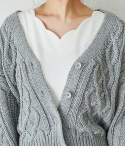 【WEB限定カラー】ケーブルニットカーディガン