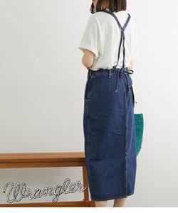 【WRANGLER×ROPE' PICNIC】サスペンダー付きスカート
