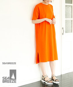 【SEABREEZE×ROPE' PICNIC】カラーTシャツワンピース