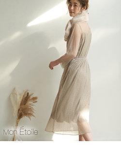 【一部店舗限定】【Mon E'toile】チュールプリーツドレス