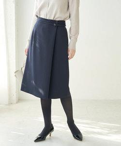 【360°ウルトラストレッチ】【WEB限定34,42サイズ】ラップ風スカート