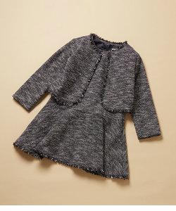 【ROPE' PICNIC KIDS】ツイードジャケット&ジャンパースカートセット