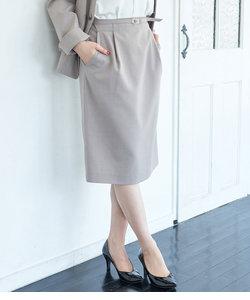 【WEB限定サイズ34-42サイズ】【セットアップ対応】麻調ダックコクーンスカート
