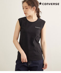 【CONVERSE】天竺刺繍ノースリーブTシャツ