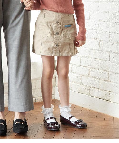【ROPE' PICNIC KIDS】フロント釦台形スカート