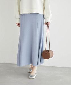 【UVカット・洗濯機OK】リブフレアニットスカート