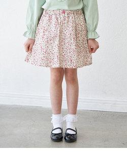 【KIDS】小花インパンツ付スカート