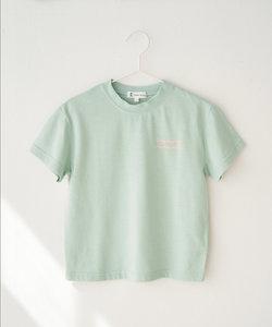 【KIDS】配色メッセージ半袖Tシャツ