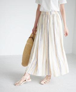 手書き風ストライプロングスカート