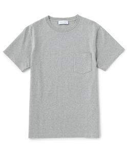 度詰め天竺クルーネックTシャツ