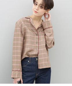ヴィスコースチェックパジャマシャツ