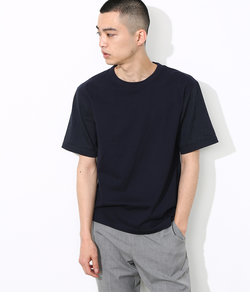 VALDEMAROフレンチリネンコンビTシャツ