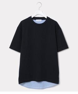 布帛コンビ切り替えTシャツ